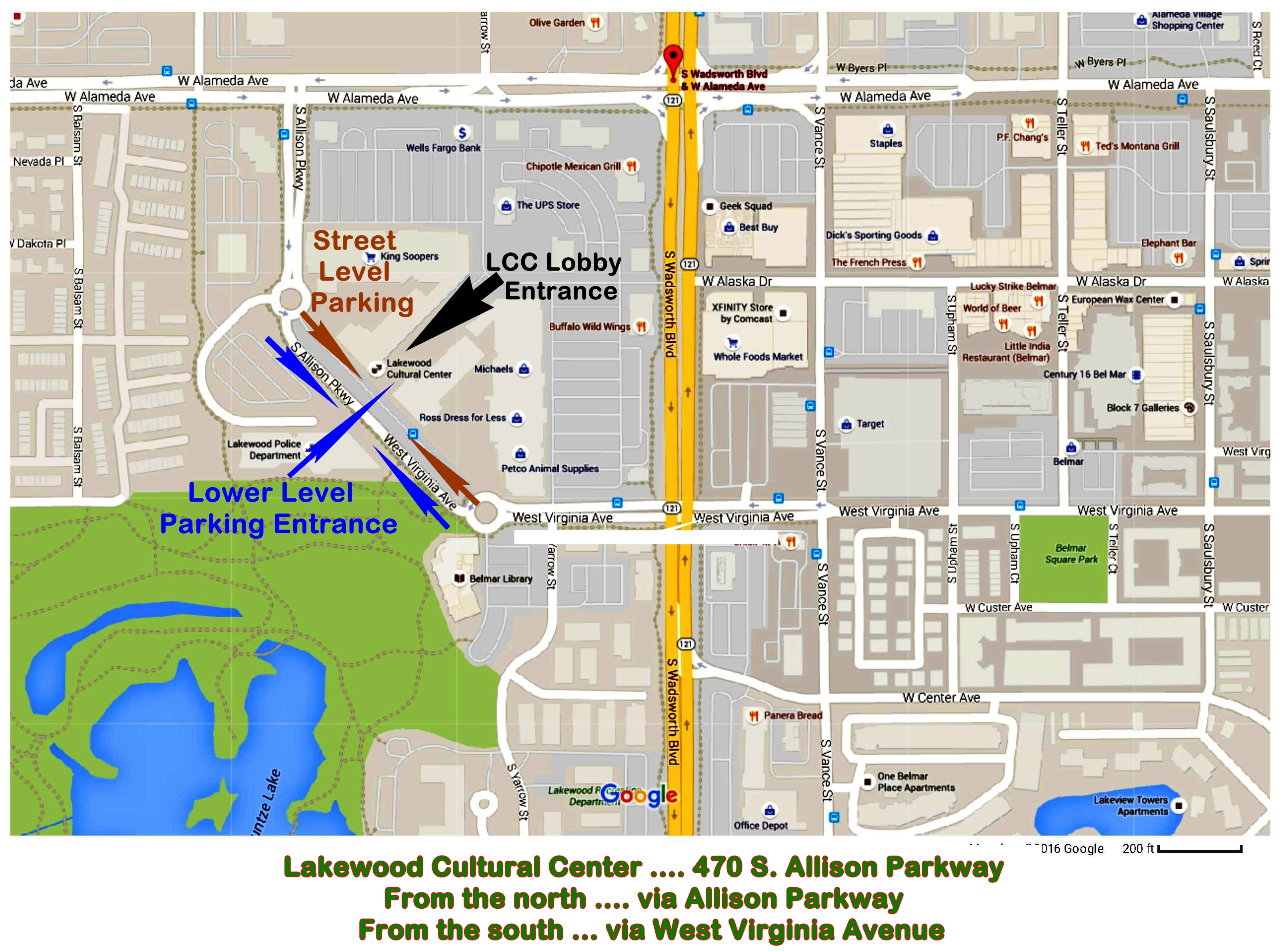Directions / Map Lakewood Cultural Center